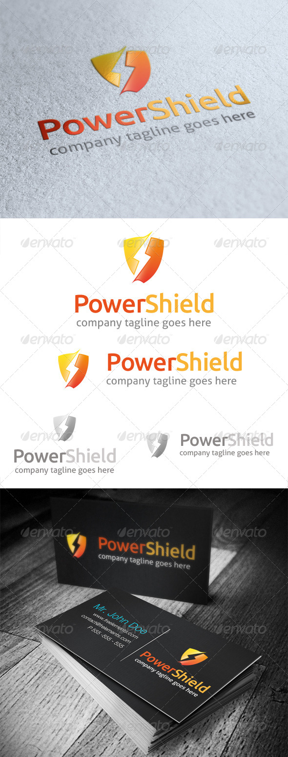 GraphicRiver Power Shield Logo 4740040