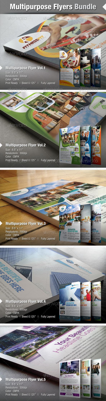 GraphicRiver Multipurpose Flyer Bundle 4681259