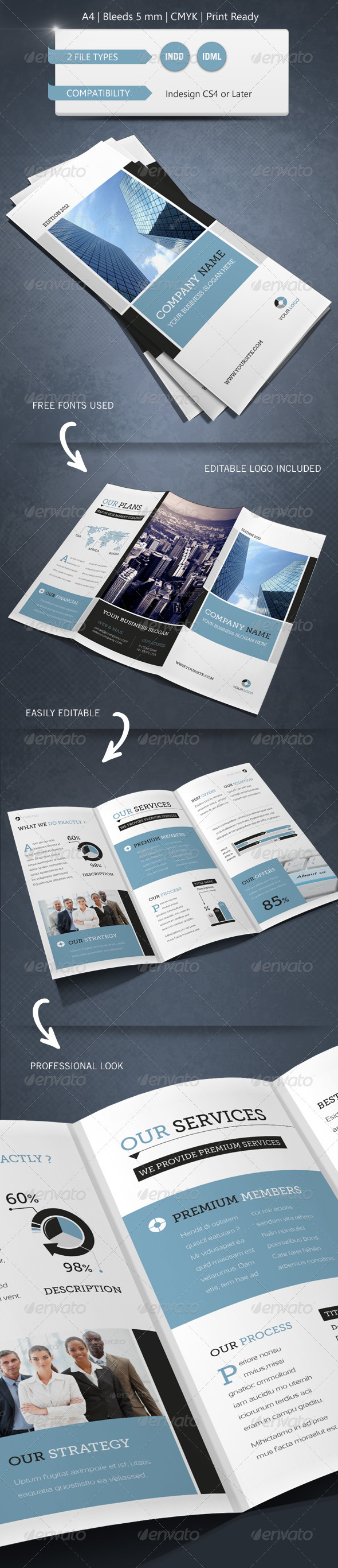 GraphicRiver Modern & Corporate Trifold Brochure Template 4666219