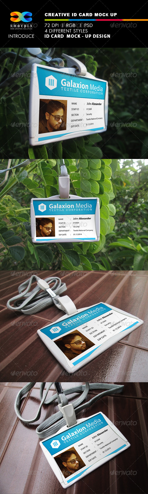 GraphicRiver ID Card Mock-Ups 4752333