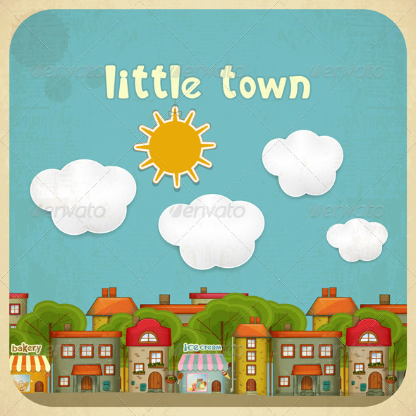 GraphicRiver Little Town Color Houses 4752344