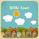 Little Town Color Houses - GraphicRiver Item for Sale