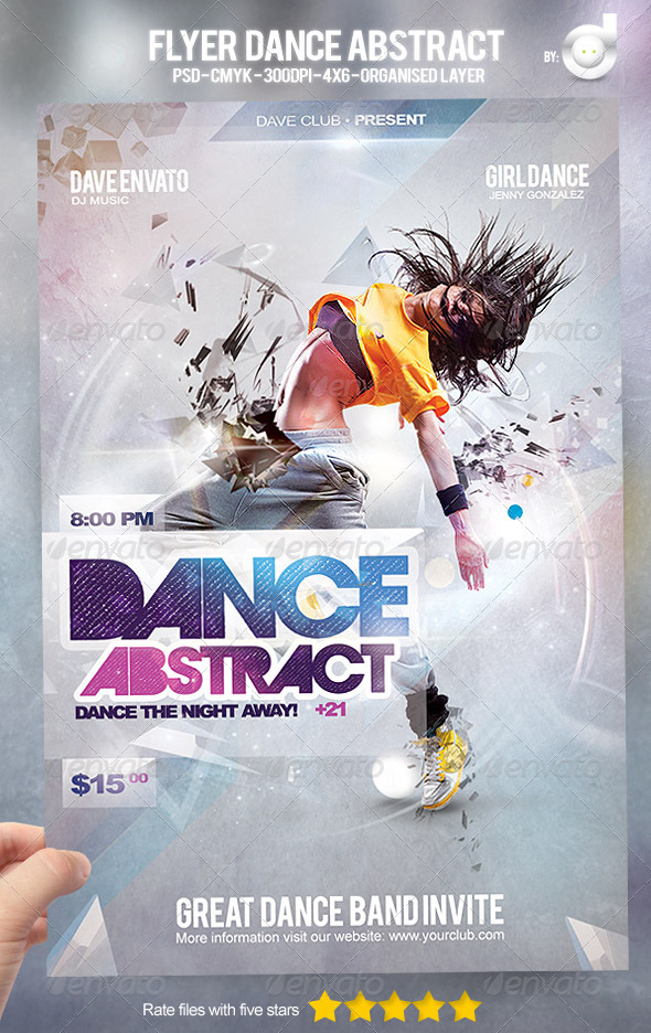 GraphicRiver Flyer Dance Abstract 4682236