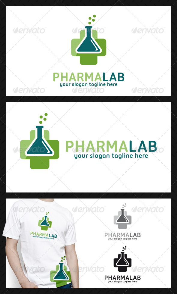 GraphicRiver Pharmacy Cross Lab Logo Template 4752446