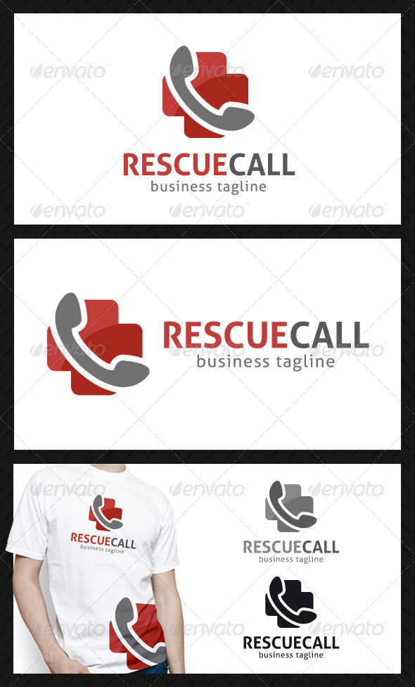 GraphicRiver Rescue Call Logo Template 4752457