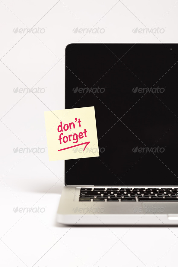 Don't Forget - Stock Photo - Images