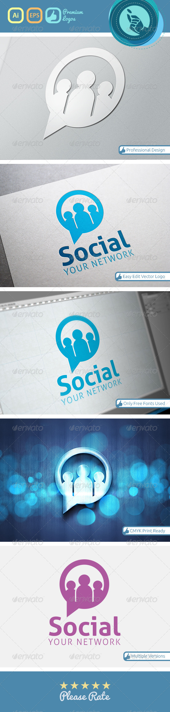 GraphicRiver Social Networking Logo 4745858