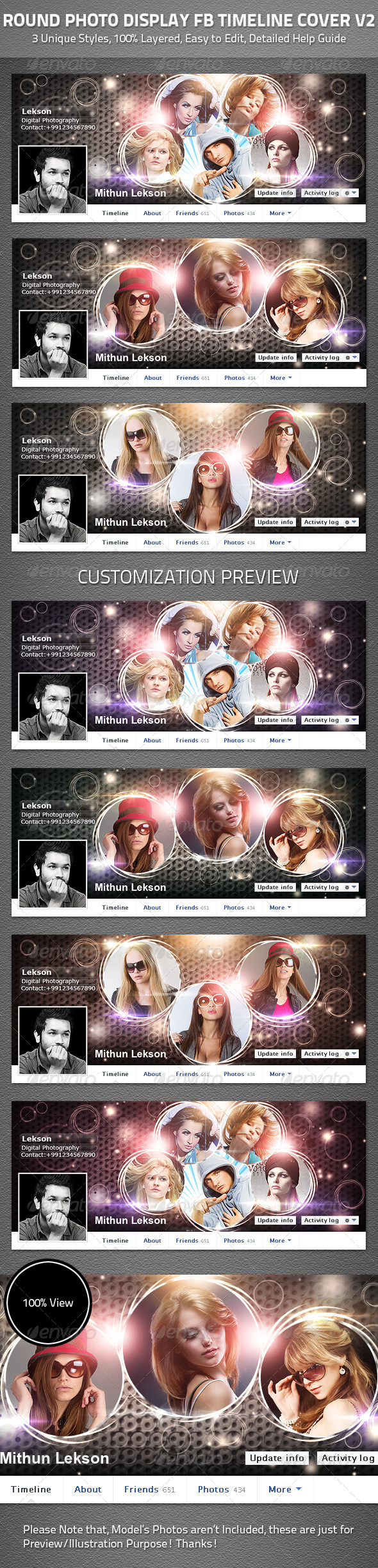 GraphicRiver Round Photo Display Facebook Timeline Cover V2 4752513