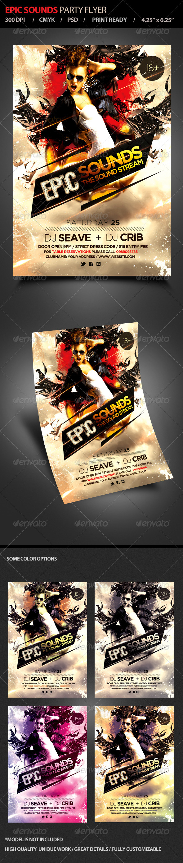GraphicRiver Epic Sounds Party Flyer 4752526
