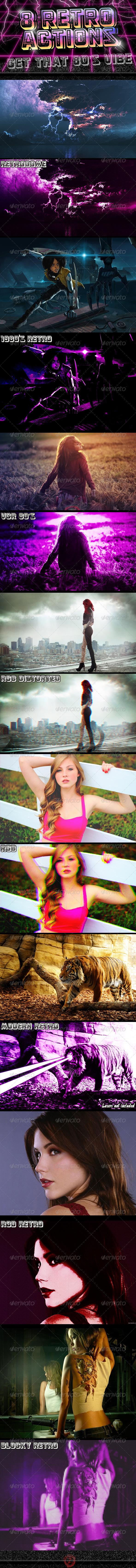 8 Photoshop Retro FX - Photo Effects Actions