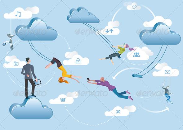 GraphicRiver Cloud Computing Acrobats 4752873