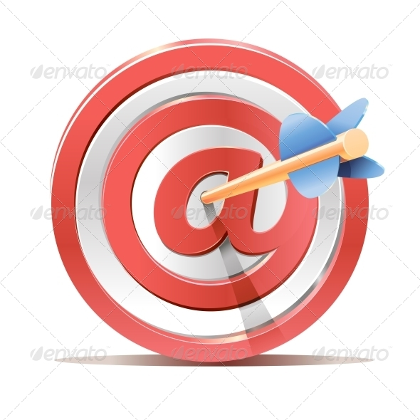 Red Darts Target Aim and Arrow