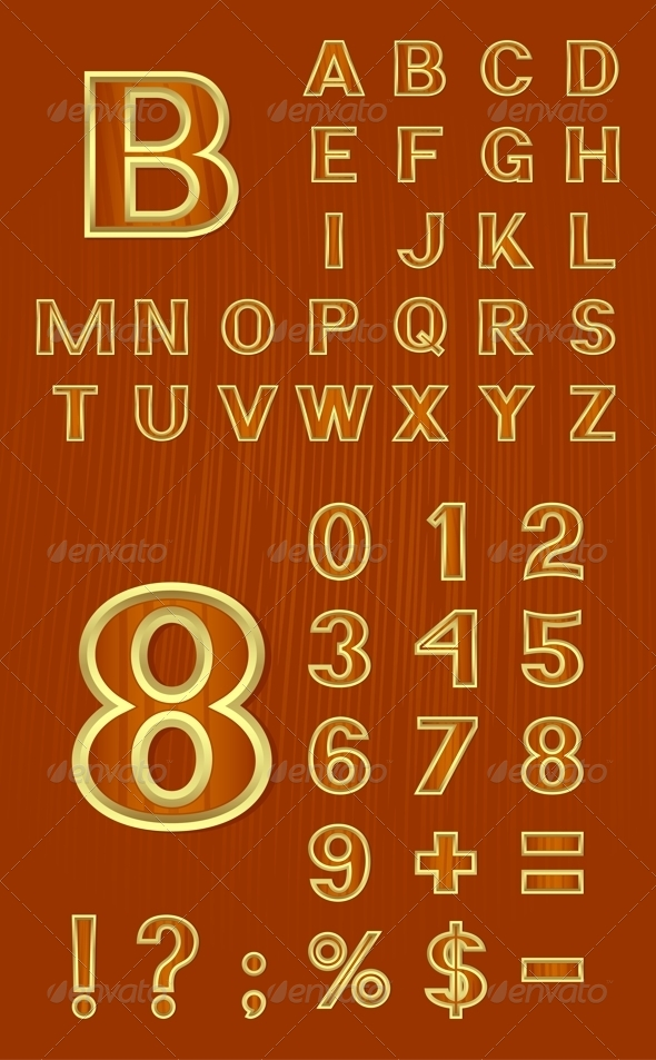 GraphicRiver Alphabet Set with Symbols and Numbers 4747658