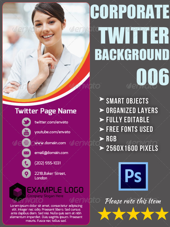 GraphicRiver Corporate Twitter Background 06 4753565