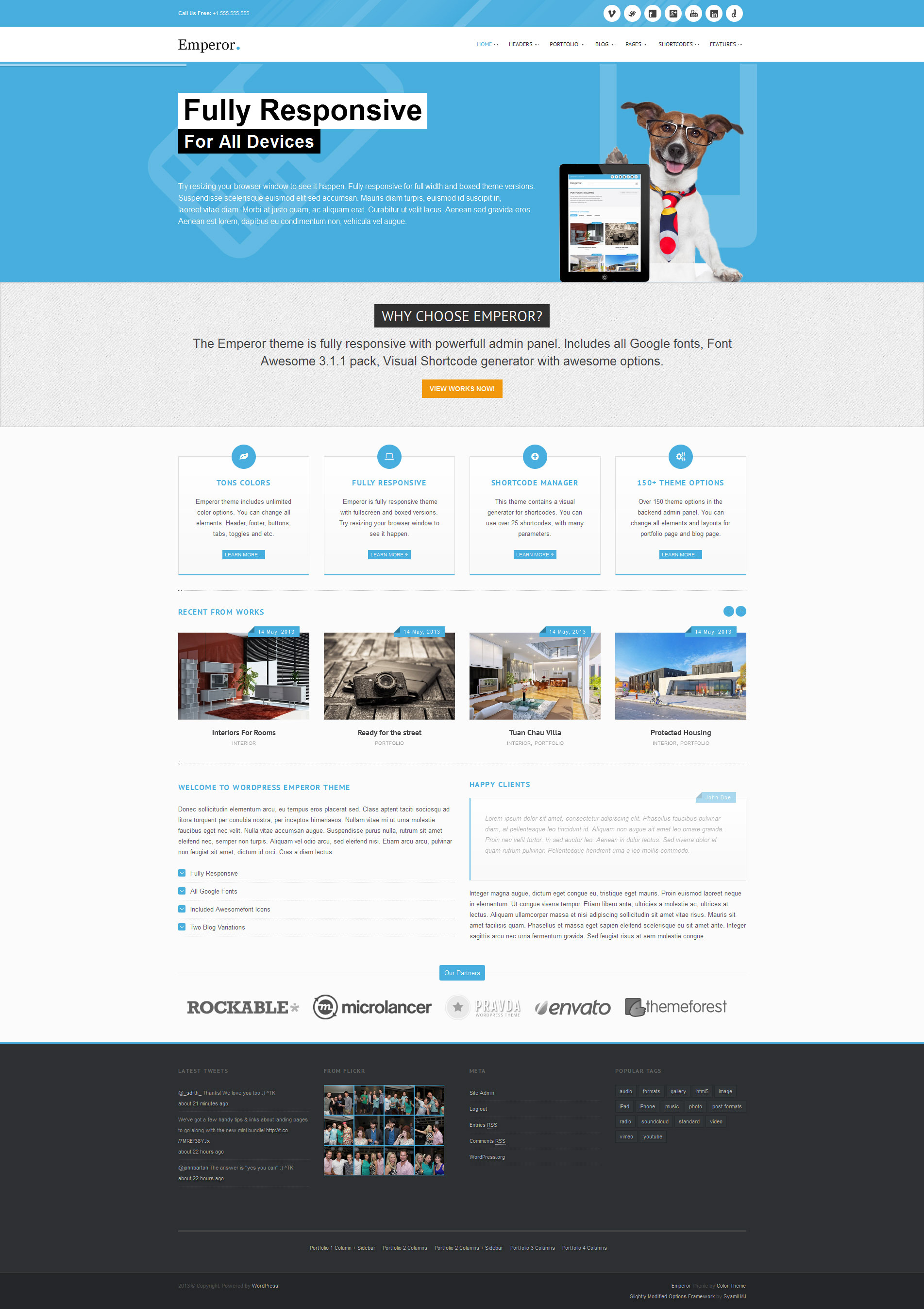 Emperor - Responsive Multi-Purpose Theme - Home Page