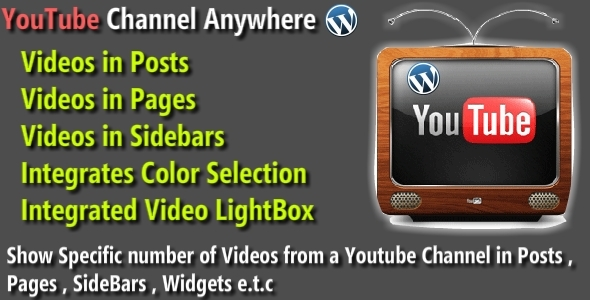 WordPress Youtube Channel Anywhere Plugin (Media) images