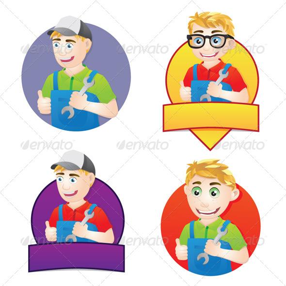 GraphicRiver Handyman Character 4748896