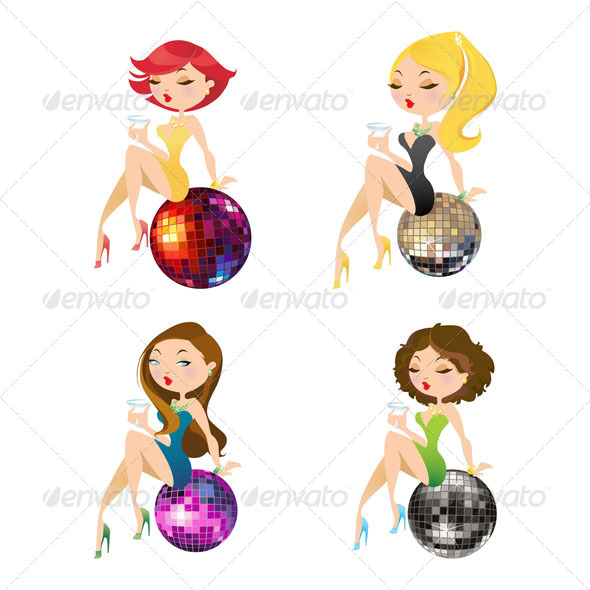GraphicRiver Party Girls 4754973