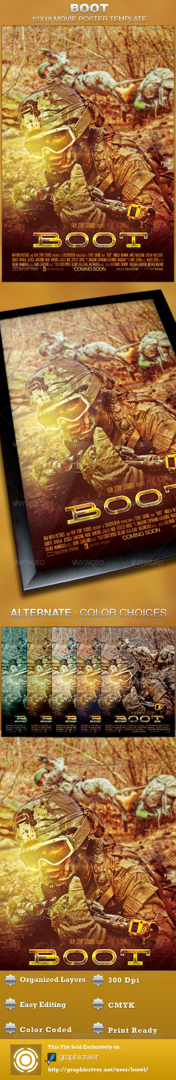 GraphicRiver Boot Movie Poster Template 4682748