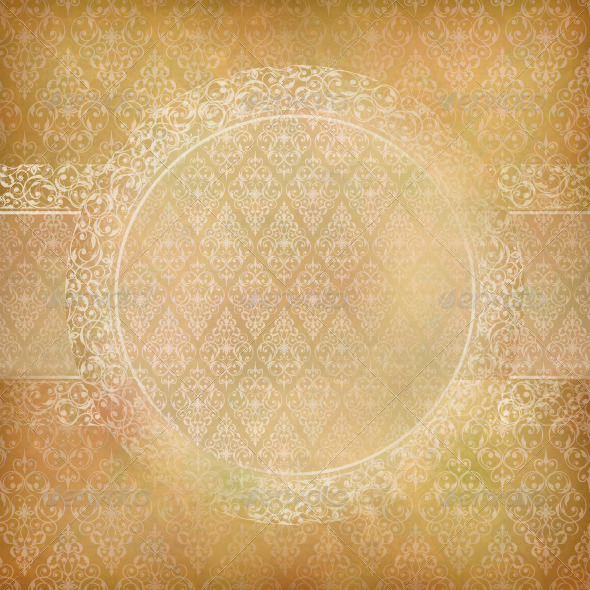 GraphicRiver Lace Banner Card Abstract Vintage Background 4755721