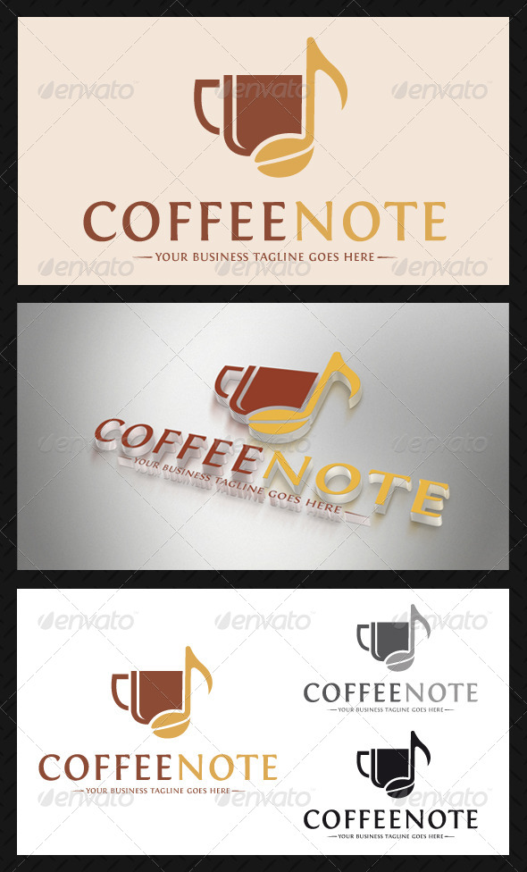 GraphicRiver Coffee Music Logo Template 4755987