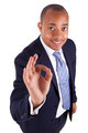 African American business man making ok gesture with the hand - - PhotoDune Item for Sale