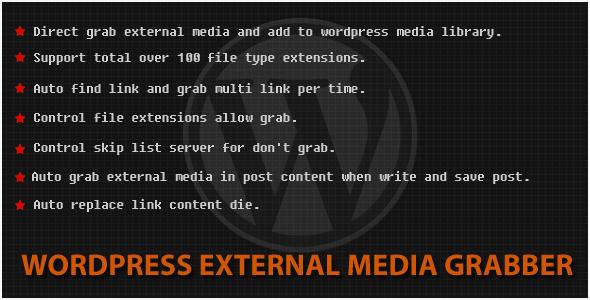 CodeCanyon Wordpress External Media Grabber 4756203