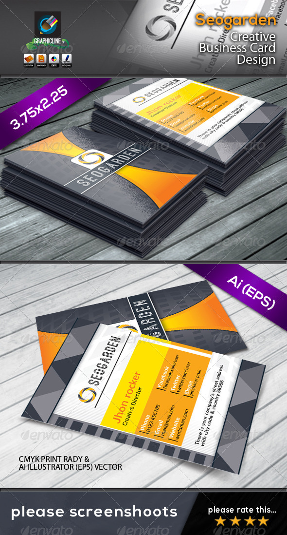 GraphicRiver Seogarden corporate business card 4608398