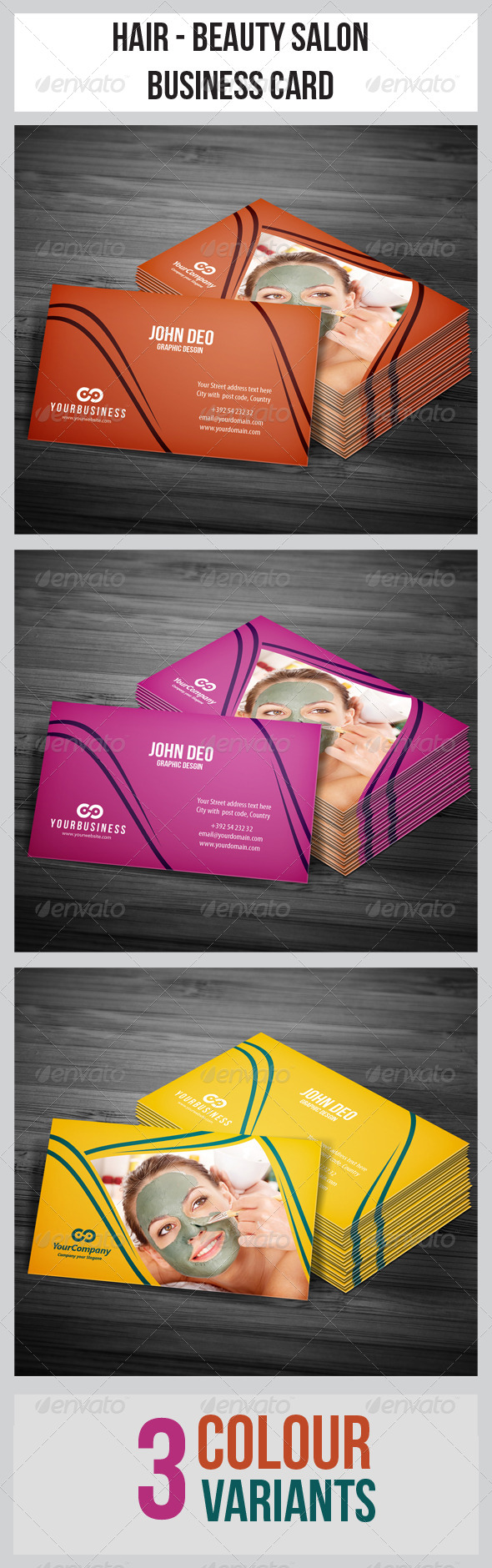 Hair & Beauty Salon Business Card - Industry Specific Business Cards