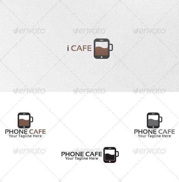 GraphicRiver Phone Cafe Logo Template 4757306