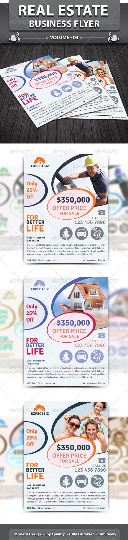 GraphicRiver Real Estate Business Flyer v4 4757329