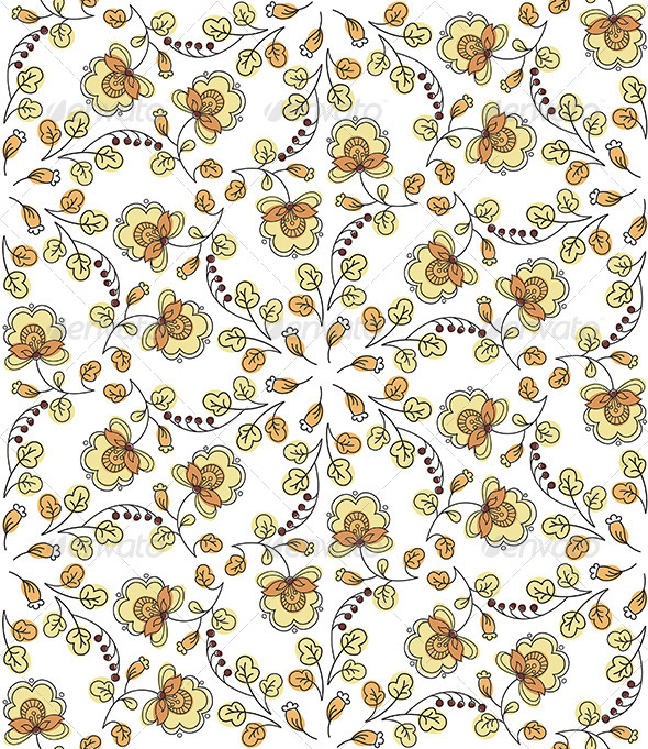 GraphicRiver Flower Seamless Pattern 4757834