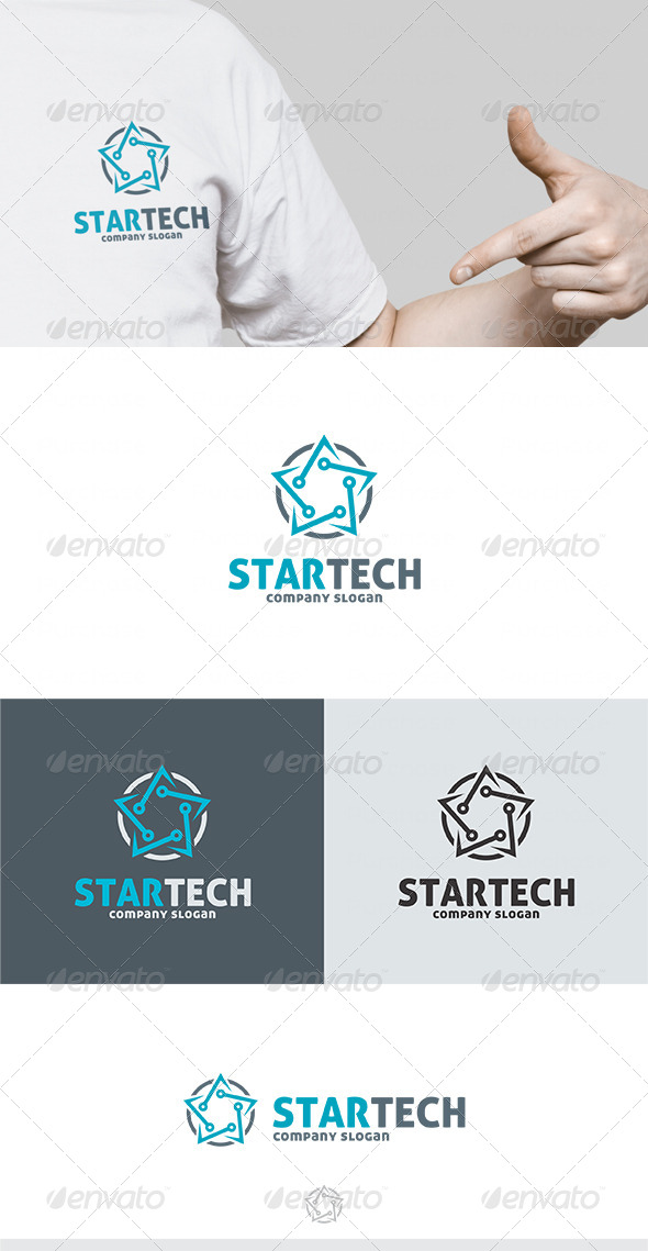 GraphicRiver Star Tech Logo 4757835