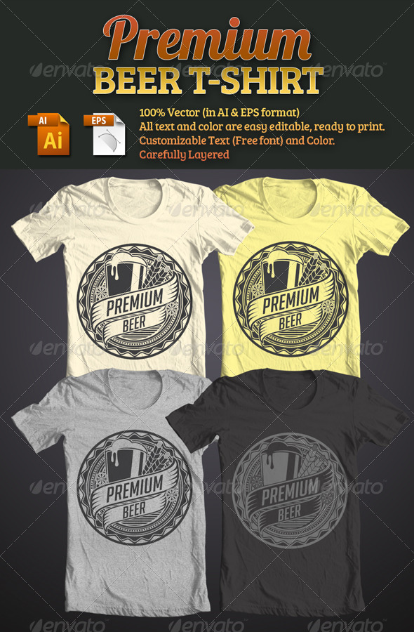 GraphicRiver Premium Beer T-Shirt 4757972