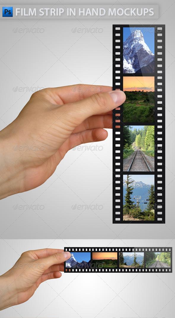 GraphicRiver Film Strip in Hand Mock-Ups 4758012