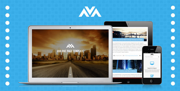 Ava Responsive One Page Template