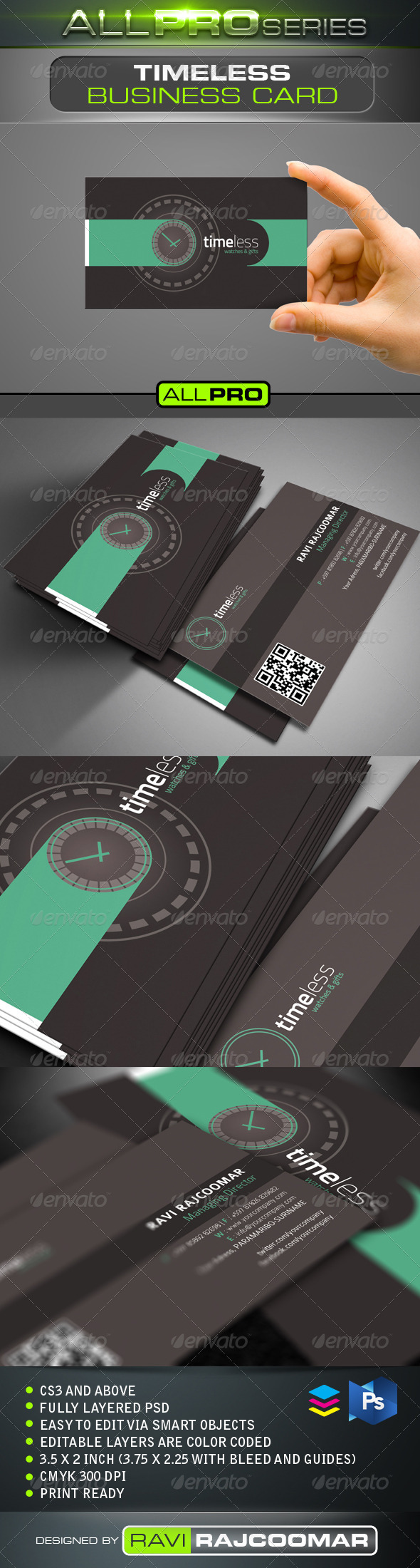 GraphicRiver Timeless Business Card Template 4758267