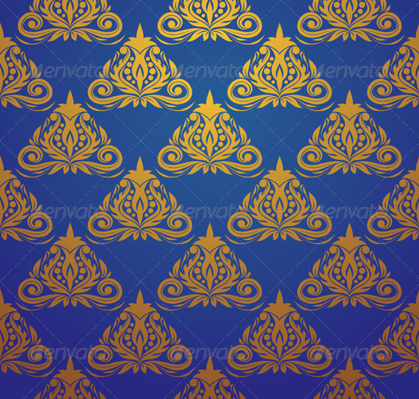Blue Triangle Pattern - Patterns Decorative