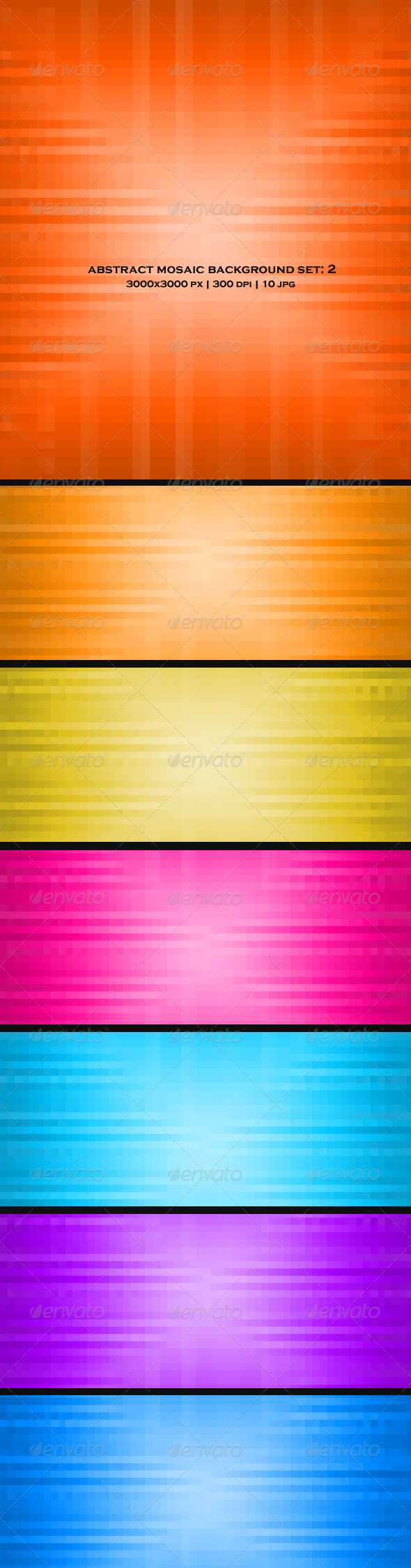 GraphicRiver Abstract Mosaic Background Set 2 4758348