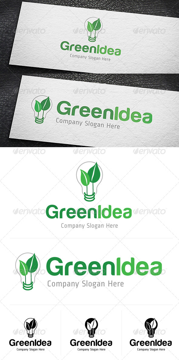 GraphicRiver Green Idea Logo Template 4758384