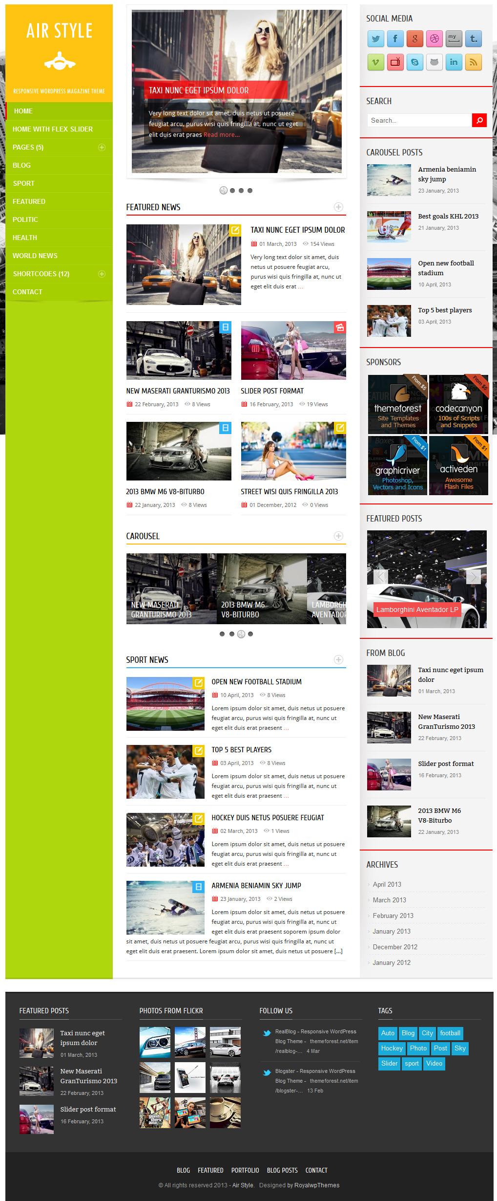 Air Style - Responsive WordPress Magazine Theme
