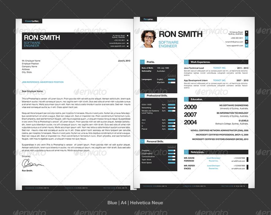 simple resume    cv template   mini portfolio by cajoe