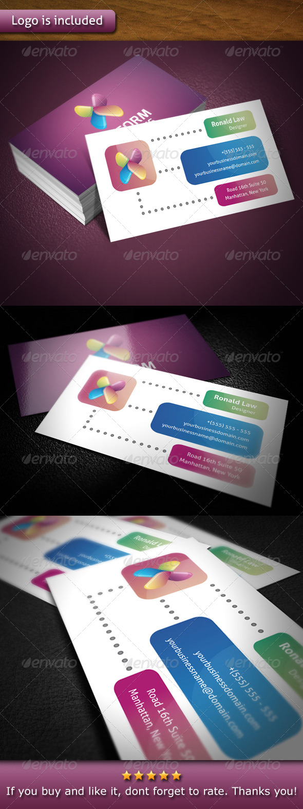 GraphicRiver Xiliform Logo Template Business Card 4758578