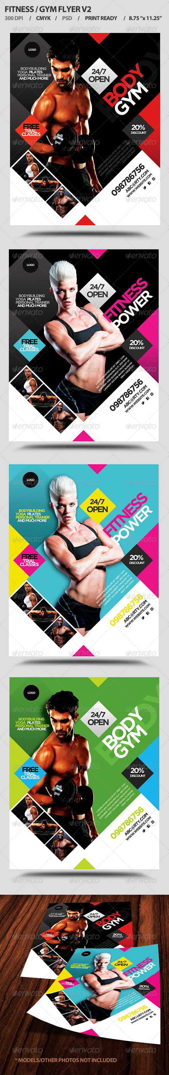 Fitness/Gym Business Promotion Flyer V2 - Flyers Print Templates