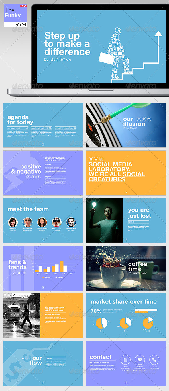 GraphicRiver TheFunky Keynote Template 4758768