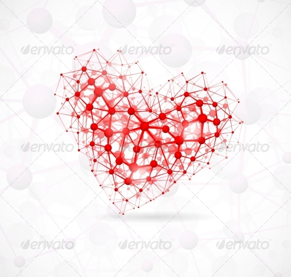 GraphicRiver Molecular Heart 4758803