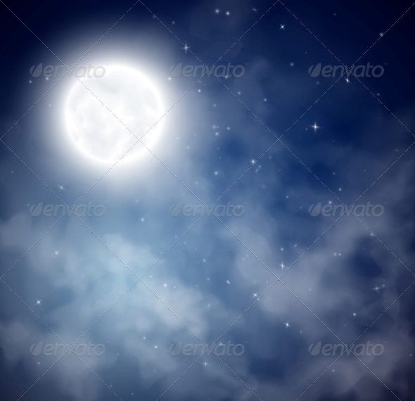 GraphicRiver Night Sky Background 4758820