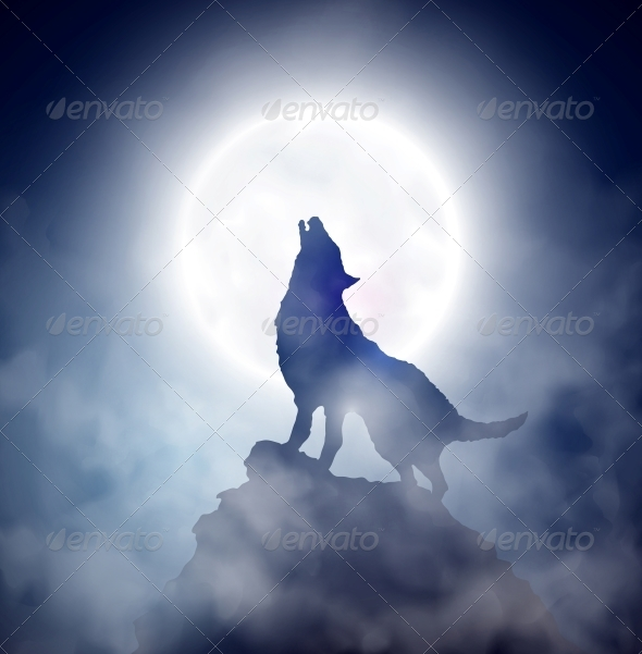GraphicRiver Howling Wolf 4758833