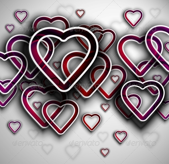 GraphicRiver Background with Hearts 4758841