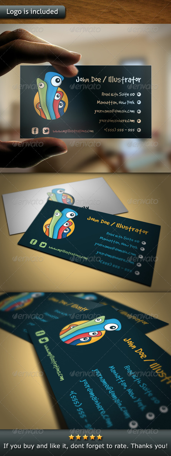 Illustration Logo Business Card